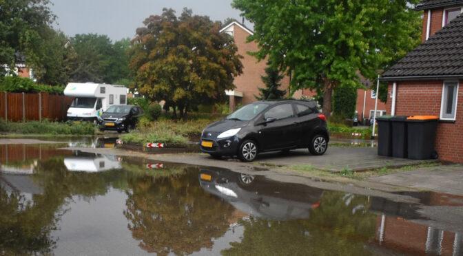 Wateroverlast in de Stouwe Wierden in augustus 2020