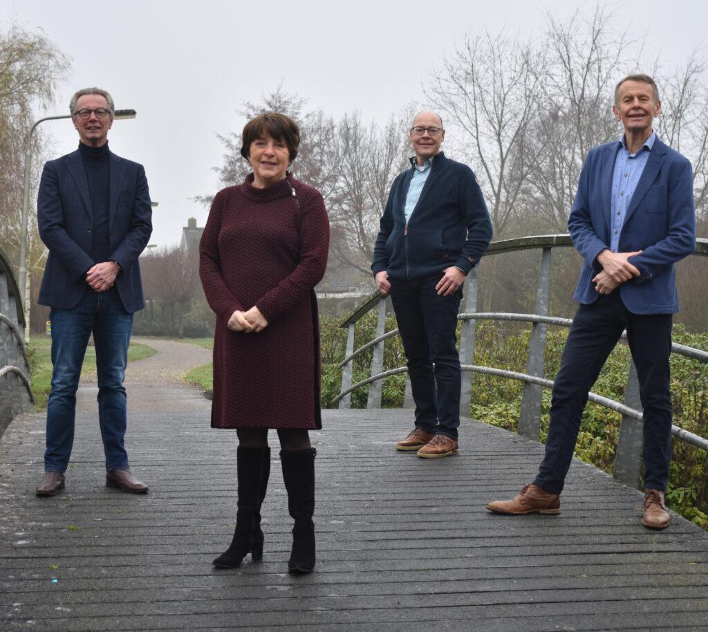 Fractie Progressief Wierden: Bert Klaas, Roselien Slagers, Jan Sasbrink en Aalsen Everts.