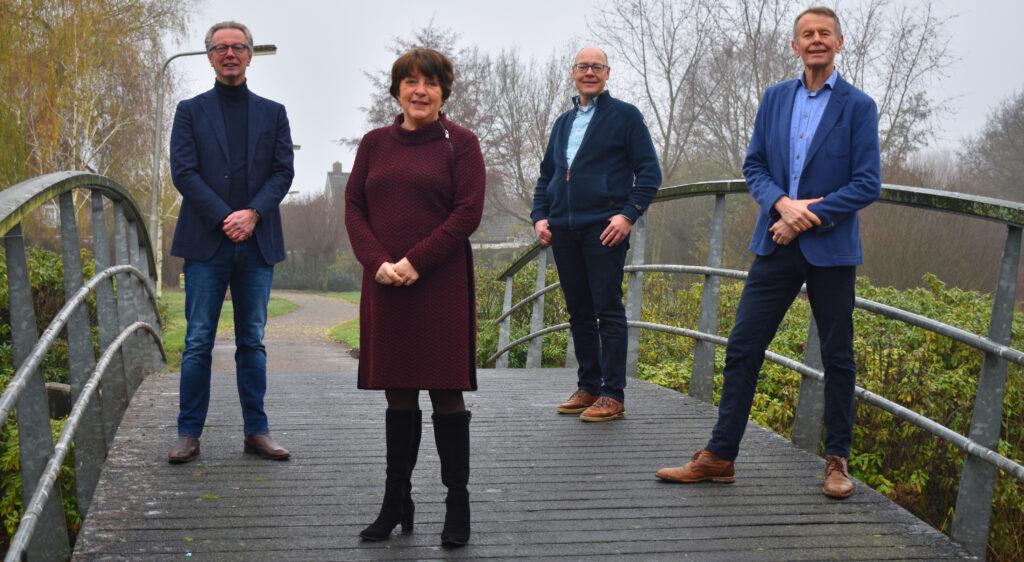 Fractie Progressief Wierden met Bert Klaas, Roselien Slagers-Bekhuis, Jan Sasbrink en Aalsen Everts
